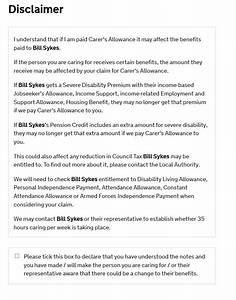Carer39s allowance original disclaimer for Disclaimer template uk