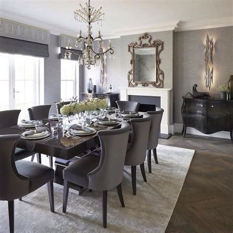 Ideas For Formal Dining Room by Lovely Formal Dining Room With Area Rug And Upholstered