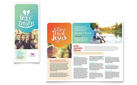 church brochure template design