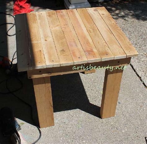 comment construire une table vintage pour le jardin