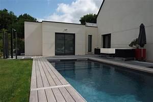 Kit Extension Bois Toit Plat : extension en toit plat bruz ~ Farleysfitness.com Idées de Décoration