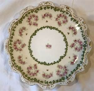 Vintage Limoges Plate  9 2 Inches  Gold Accents  France