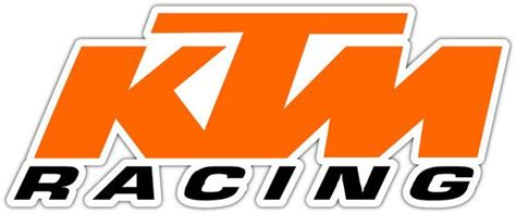 ktm racing vinyl sticker decal can be placed any smooth surface notebook window car bumper