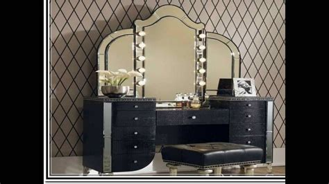 makeup desk with lighted mirror makeup vanity table with lighted mirror youtube inside