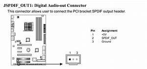 Need Help Troubleshooting  Spdif Out From Motherboard To
