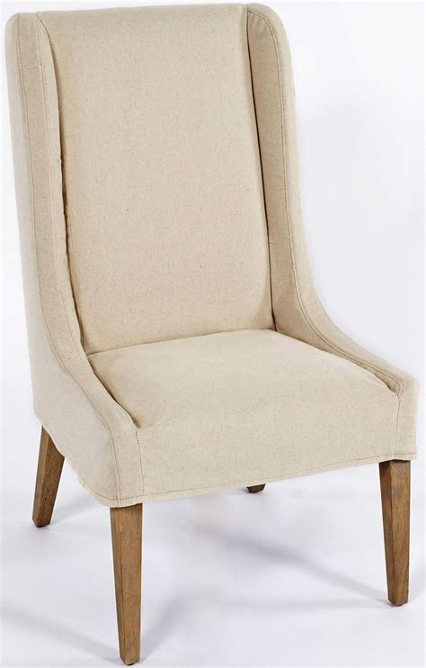 white slipcovered chair kiley biscotti and white slipcovered accent chair from