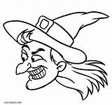 Witch Coloring Halloween Face Cartoon Hat Printable Drawing Witches Cool2bkids Cat Getcolorings Getdrawings Clipartmag Cheshire sketch template