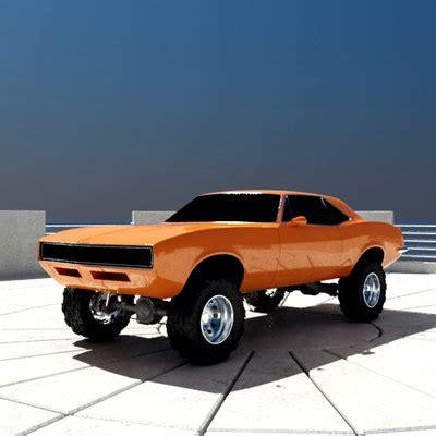 off road sports car offroad muscle car 3d model