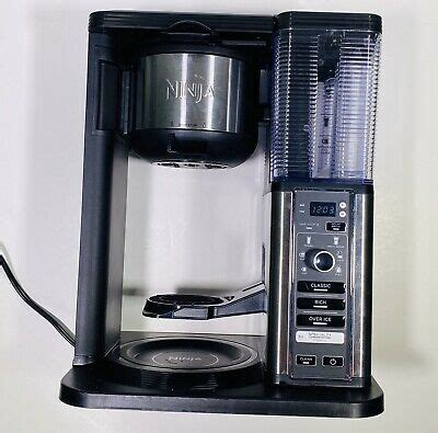 Glass carafe has an ergonomic handle and spout for easy control and pouring convenience. Ninja CM407 Specialty Coffee Maker, with 50 oz. Thermal Carafe Black Stainless 622356557542 | eBay