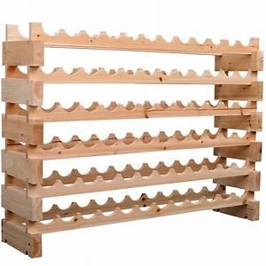 Homcom, Wood, Wine, Rack, 72, Bottles, Holder, 6, Tier, Shelves, Storage, Stand