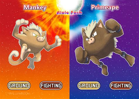 Mankey And Primeape In Alola!! By Villi-c On Deviantart