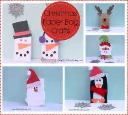 christmas paper bag crafts inspired by family