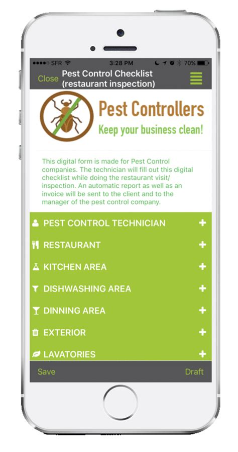 pest control inspection  kizeo forms