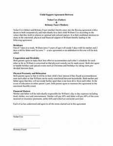 Child Support Agreement Child Support Agreement Template Free Microsoft Word