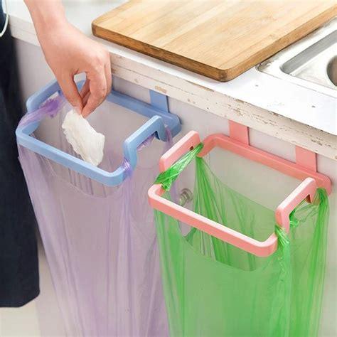 kitchen organizer home cupboard door rack plastic kitchen garbage bags holder storage shelf