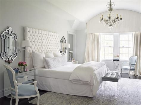 white tufted headboard french bedroom katie  design
