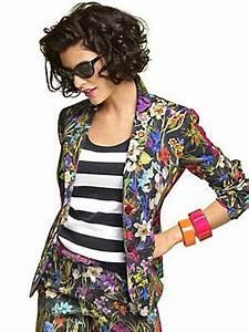 Blazer Femme Fleuri : veste blazer imprim original fleurs collections mode helline veste imprim e mode femme ~ Melissatoandfro.com Idées de Décoration