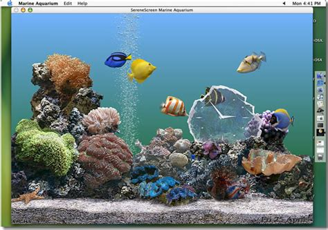 serenescreen marine aquarium mac