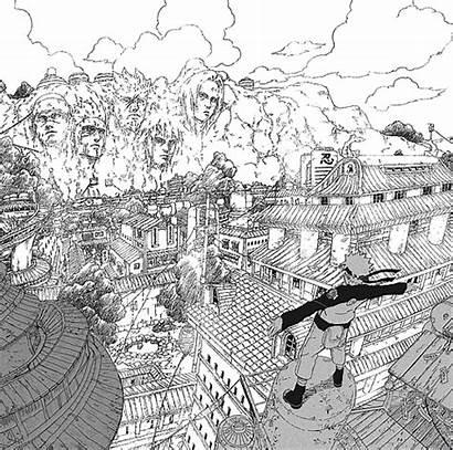 Naruto Sasuke Konoha Chapter Homecoming Uchiha Village