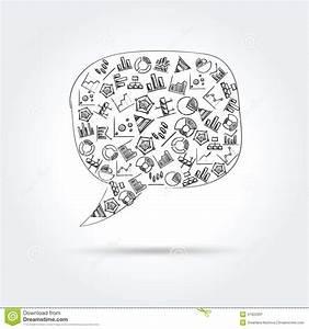 Hand Drawn Bubble Speech Stock Photography