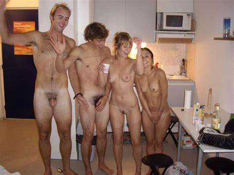 This Student Nudist Strips Bare Kitchen A Restroom Uncovered