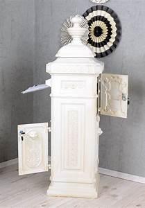 Briefkasten Shabby Chic : briefkasten weiss postkasten landhausstil stadbriefkasten ~ Watch28wear.com Haus und Dekorationen