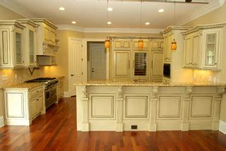 kitchen with tile antique glazed cabinetry traditional kitchen atlanta 3496