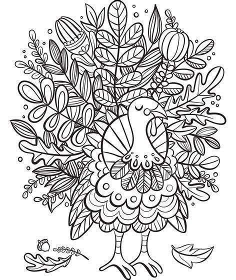 turkey foliage coloring page crayola com