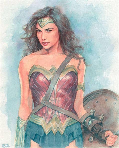 Wonder Woman (gal Gadot) Commission Work #watercolor