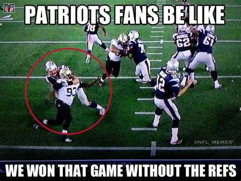 Patriots Fan Meme - the patriots have a quot 12th man quot also they wear black and white stripes roger goodell is their