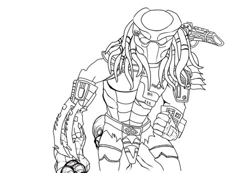 alien  predator coloring pages predator  art