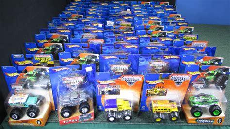 toy monster jam trucks for sale lot of 66 monster jam trucks from 2002 2005 youtube