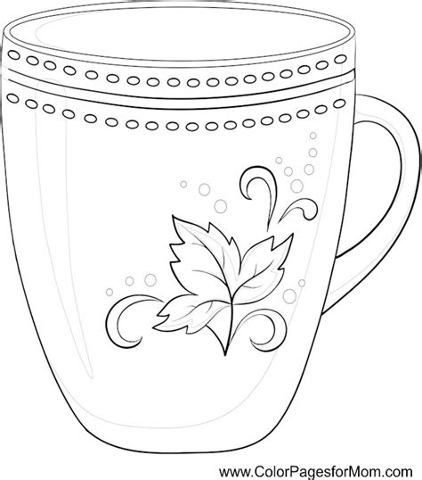 Unique and awesome embroidery designs. Coloring pages for adults - coffee coloring page 11