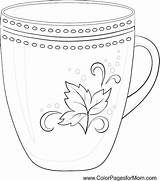 Coffee Coloring Pages Cup Mug Adult Adults Printable Colouring Tea Contour Pattern Wine Colorpagesformom Doodle Books Coffe Getcolorings Dolphin Ball sketch template