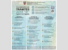 UDG publicó calendario de trámites 2018 'B' UN1ÓN Jalisco