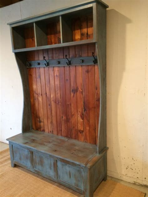 hall tree  open cubbies  top furniture   barn