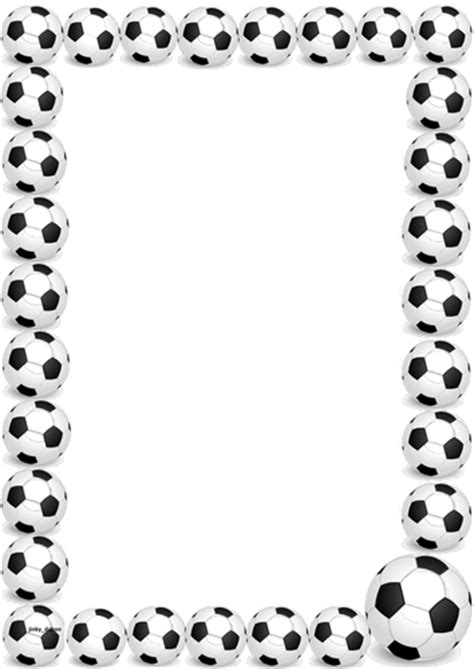 football  themed lined papers  pageborders