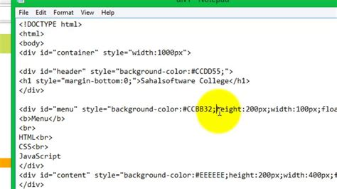 Div Tags Html Html Div Style Background Color Javascript Coloring Page