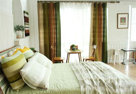 green bed spread and curtain by origo korea origo
