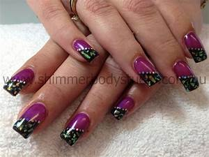 Purple gel nail designs images art