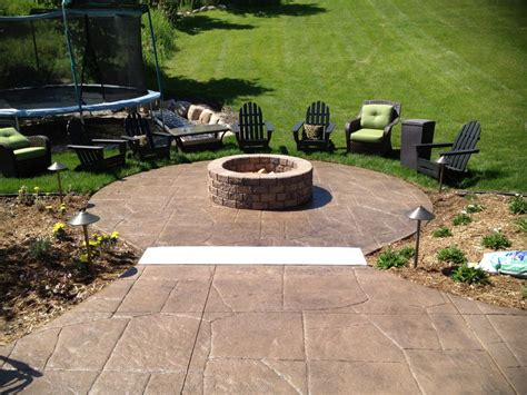 backyard patios with pits concrete outdoor pit pit design ideas