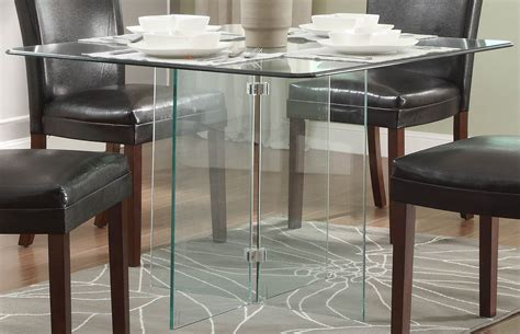 Alouette Square Glass Dining Table From Homelegance (17811