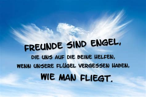 freunde sind engel inspirierender spruch 252 ber wahre