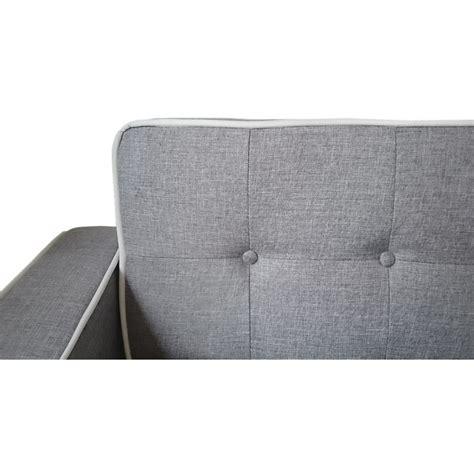 canapé convertible tissu gris canapé convertible scandinave tissu gris liseré blanc pas