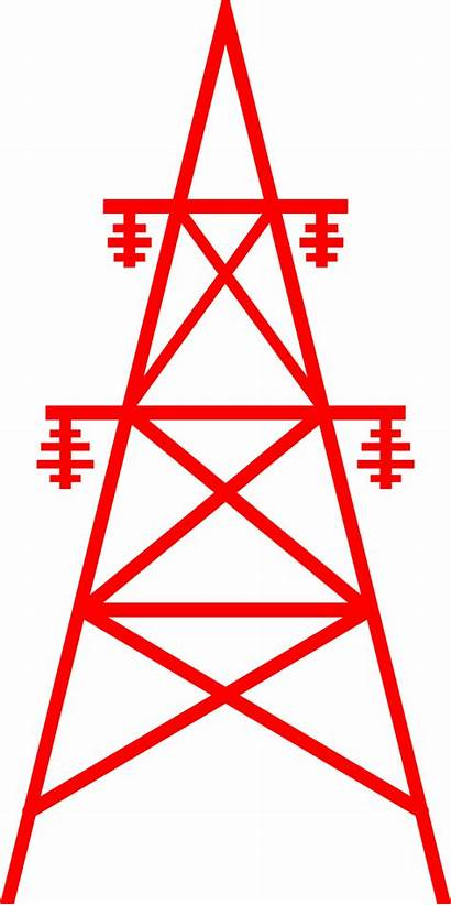 Tower Transmission Clipart Towers Electrical Electric Line