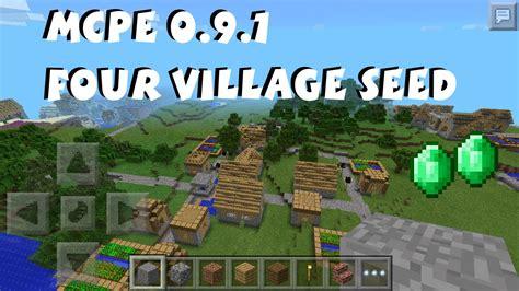 Minecraft Pocket Edition 0.9.1 Four Village Seed