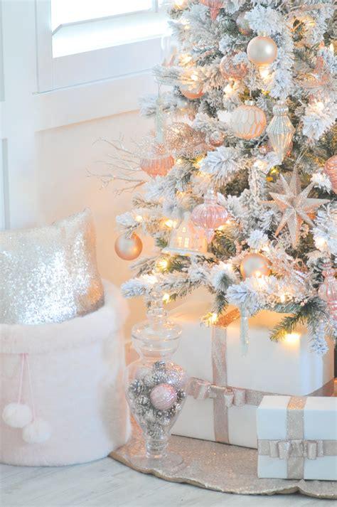 pink and white xmas tree skirt kara s ideas blush pink vintage inspired tree tree challenge 2016 kara