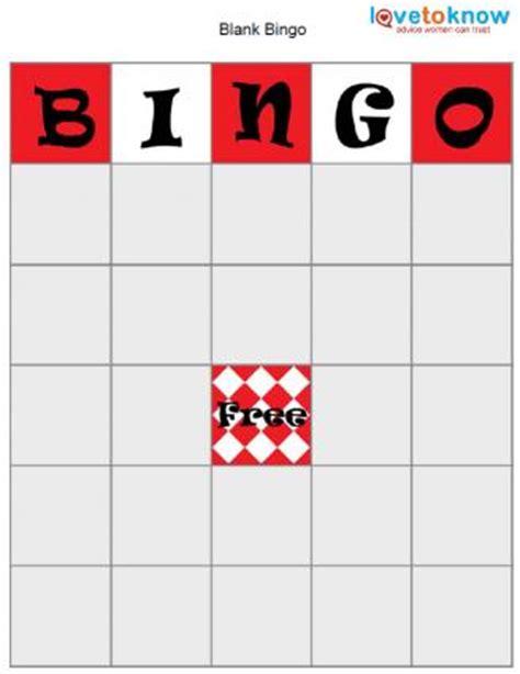 blank bingo template bingo board template lovetoknow