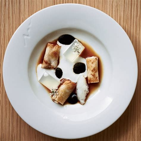 dishes restaurant cuttlefish coconut food foodandwine menu minibar