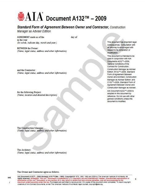 standard form of agreement between owner and contractor a132 2009 standard form of agreement between owner and
